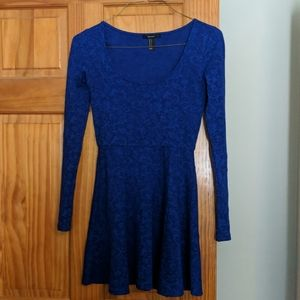 Royal blue lace holiday dress